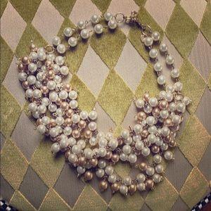 Stella and Dot pearl bib necklace